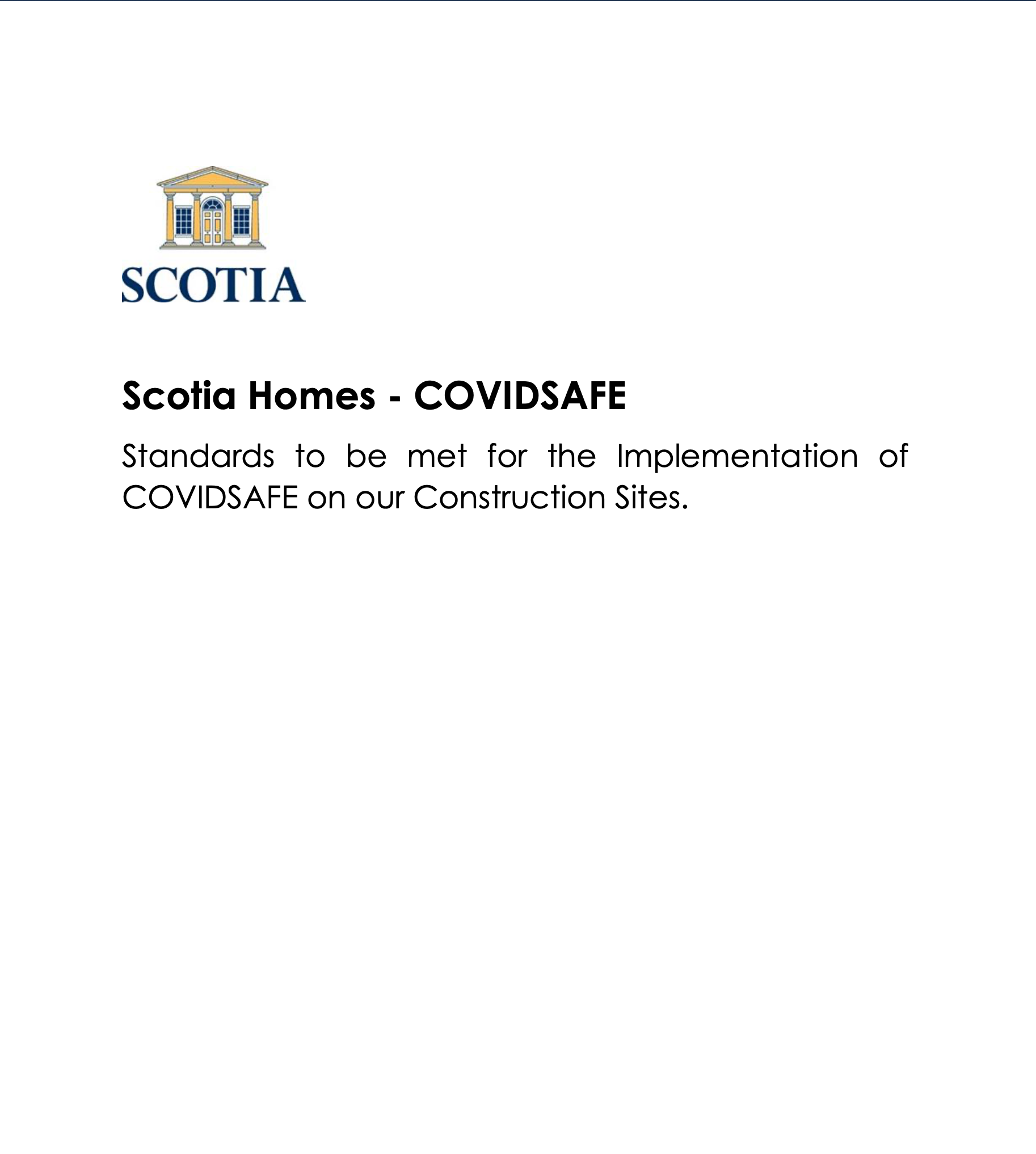 Scotia Homes - COVIDSAFE